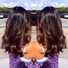 subtle balayage on black hair ombre