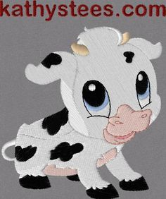bb14ae897  10 - Baby Cow Machine Embroidery Designs Set of 10 on CD
