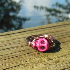 Day of the Dead Ring hot pink by MySoulCanDance