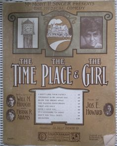 1906 Dixie I Love You The Time The Place The Girl Will Hough Frank Adams Jos E Howard Song Book Sheet Music by CindysCozyClutter on Etsy