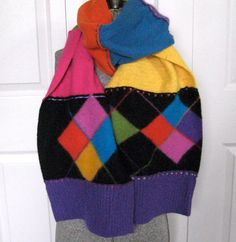 Felted Wool Scarf  / Shawl COLOR EXPLOSION  made by heartfeltbaby