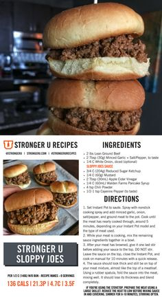 You'll love this lower calorie sloppy joes sauce that makes amazing stovetop or Instant Pot sloppy joes. Follow us on Instagram or the #strongerurecipes tag for more recipes and food related content.