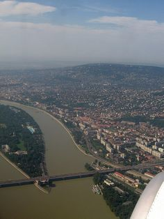 Budapest with the Danube from the air - free image