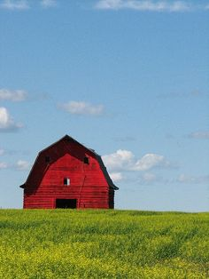 red barn... wide open spaces.... Love barns