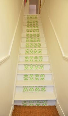 papered stairs!