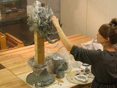 'the delusion of grandeur' by phoebe cummings, 2011  unfired clay, wood