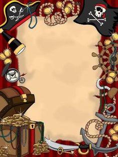 Resultado de imagem para pirate invitation blank