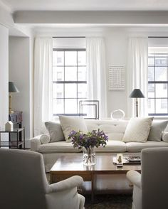 colors, overall look.  Want shades of whites, grays, dark wood furniture.  look for family room.  decorated but comfortable, family friendly