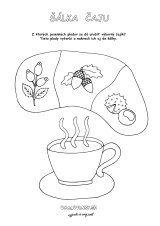 Čaj z jesenných plodov Snoopy, Character, Lettering