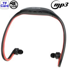 [USD3.75] [EUR3.50] [GBP2.76] Sport MP3 Player Headset with TF Card Reader Function, Music Format: MP3 / WMA / WAV(Red)