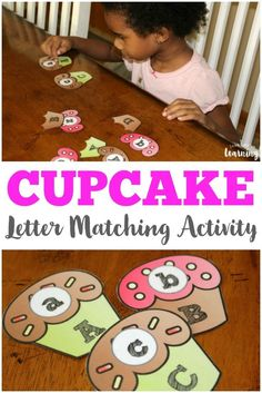 Pick up this fun cupcake-themed letter matching activity to work on recognizing uppercase and lowercase letters with early learners!