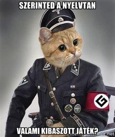 Nazi Cat - Szerinted a nyelvtan Valami kibaszott játék?