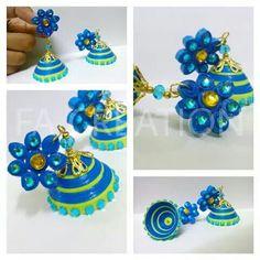 Quilled earring jumbo jumka@FA CREATION IN Face Book