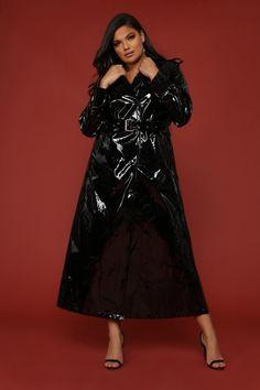 30aebcd594e I Like Stunntin' Trench Jacket - Black. Patent Trench Coats, Trench Jacket,  Raincoats For Women ...