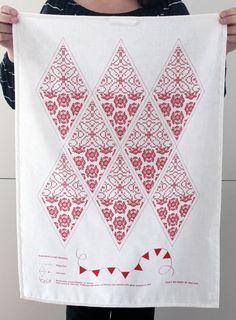 Kökshandduk / Flaggspel DIY #NordicDesignCollective #towel #design #DIY