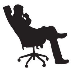 Man sitting on office chair silhouette - Transparent PNG & SVG vector Person Silhouette, Silhouette Png, Man Sitting, Male Body Art, Black N White Images, Art Of Living, Logo Design, Graphic Design, Chair