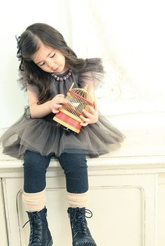 Girl's dress for Christmas holiday and Everyday by hellodearkids