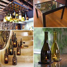 Wine Bottle Recycling Ideas | Furnish Burnish