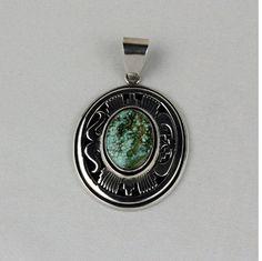 Leonard Nez Sterling Silver Pendant.   #nativeamericanjewelry    #turquoisejewelry http://www.leotasindianart.com/