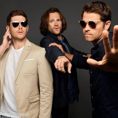 Jensen Ackles, Jared Padalecki, Misha Collins. Comic Con 2017