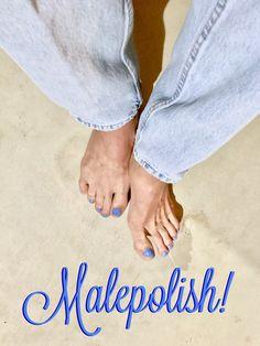 Me!💋 Men Nail Polish, Toe Polish, Painting Toenails, Mens Nails, Painted Toe Nails, Male Makeup, Manicure And Pedicure, Sexy Feet, Beauty Nails