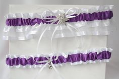 Wedding/Accessories/Purple and white by lechoixdelamariee on Etsy