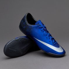 lowest price 2699e a9d18 Nike Mercurial Victory V Ronaldo IC - Mens Soccer Cleats - Indoor - Deep  Royal Blue Metallic Silver Racer Blue