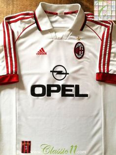 Official Adidas AC Milan away football shirt from the 1998/1999 season.