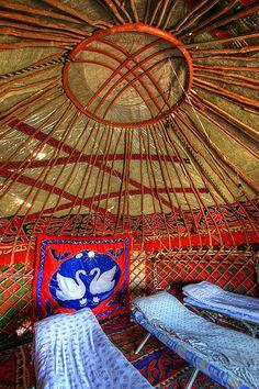 Yurt interior Kyrgyzstan