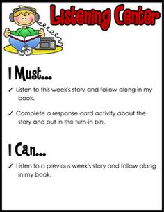 Literacy work station directions/printable activity pages