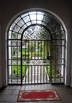 Hacienda garden gate