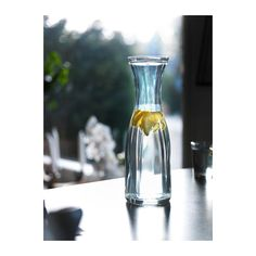 6-8 of these to hold water and pine branches / greenery for other side tables and general decoration around the lodge.    LÖNSAM Carafe  - IKEA
