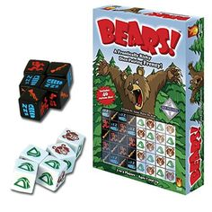 The Bears Edition Dice Game is sure to be a hit with the whole family. It is a fast-playing, competitive game where you score points by pairing dice. Dice Games, Games To Play, Student Lounge, Beautiful Home Designs, Ice Breakers, New Toys, Best Games, Board Games, Bears