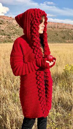 Crochet Dragon Pattern, Crochet Hood, Crochet Hook Sizes, Crochet Cardigan, Knit Or Crochet, Double Crochet, Single Crochet, Crochet Stitches, Crochet Patterns