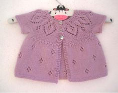 Crochet Pattern for Baby Cardigan Sweater Sunburst Cardigan