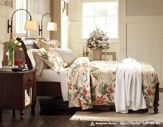 Olive Green and Beige Tropical Vine Flower Print Plant Country Chic Rustic Style Nature Cotton Damask Full, Queen Size Bedding Sets Wainscoting Height, Black Wainscoting, Painted Wainscoting, Wainscoting Bedroom, Dining Room Wainscoting, Bathroom Wainscotting, Wainscoting Panels, Queen Size Bedding, Bedding Sets