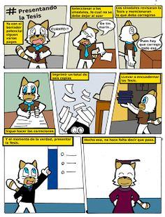La presentación de una tesis - Comic autobiográfico