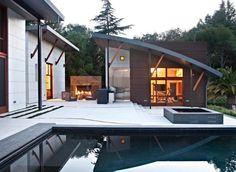 Outdoor Inspiration: Hinreißende Wohnideen für Feuerstellen am Pool - #Gartengestaltung