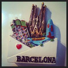 Barcelona on your fridge