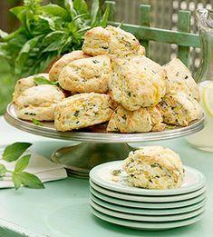 cheddar basil mini scones