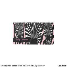 Trendy Pink Zebra  H