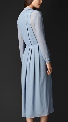 Layered Silk V-Neck Dress | Burberry