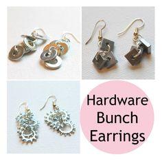 Earrings Every Day Month, Day 11 Jewelry Patterns, Jewelry Ideas, Earring Tutorial, How To Make Earrings, Hardware, Drop Earrings, Bracelets, Wire, Shop