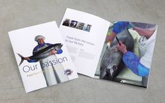 Brochure design for New England Seafood (London)