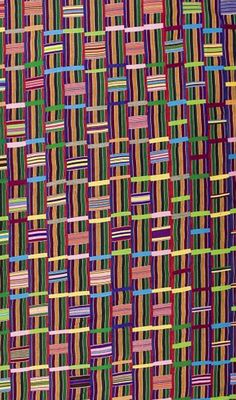 Africa | Kente wrapper from the Ashanti people of Ghana | 2nd quarter 20th century | Partial view; detail