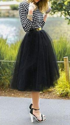 Black tulle skirt + polka dot top - 45% Off on 1st Order, Up to 50% Off sitewide coupons