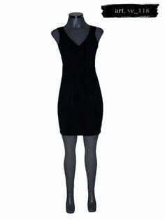 Elegante Vestido Negro Marca Dynamite - $ 890.00