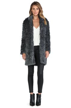 Shop for Charles Henry Faux Fur Cocoon Coat in Grey at REVOLVE. Urban Street Style, Revolve Clothing, Faux Fur, High Fashion, What To Wear, Fashion Outfits, My Style, Fur Coats, Clothes