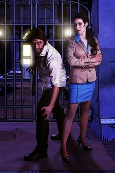 "Bigby Wolf & Snow White of Fables, ""The Wolf Among Us"" video game cosplay by Saskeks-Cosplay"