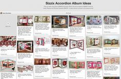 Follow the Accordion Album board for ideas using Sizzix #658035 Accordion Album, #658037 Frame & Label, Bracket and *NEW* #658791 Labels & Stitched Frames Framelits